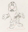 Animation Art:Production Drawing, Snow White and the Seven Dwarfs Grumpy Animation Drawing(Walt Disney, 1937). ...