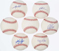 Autographs:Baseballs, Detroit Tigers Single Signed Baseball Lot of 7.. ...