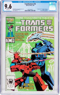 Modern Age (1980-Present):Science Fiction, Transformers #18 (Marvel, 1986) CGC NM+ 9.6 White pages....