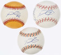 Autographs:Baseballs, Detroit Tigers All-Star Game Signed Baseball Lot of 3.. ...