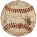 Autographs:Baseballs, 1952 Detroit Tigers Team Signed Baseball (27 Signatures).. ...