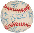Autographs:Baseballs, 1999 Detroit Tigers Team Signed Baseball (26 Signatures).. ...