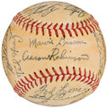 Autographs:Baseballs, 1949 Detroit Tigers Team Signed Baseball (26 Signatures).. ...