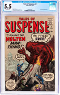 Silver Age (1956-1969):Horror, Tales of Suspense #7 (Marvel, 1960) CGC FN- 5.5 Off-white pages....