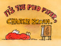 Animation Art:Production Drawing, It's the Pied Piper, Charlie Brown Title Storyboard (Bill Melendez, 2000)....