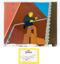 Animation Art:Production Cel, The Simpsons Fat Tony Production Cel with Signature Card(Fox, 2001).... (Total: 2 )