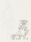 Animation Art:Color Model, Dangerous When Wet Tom and Jerry Color Model Drawing (MGM,1953)....