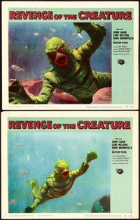 "Revenge of the Creature & Other Lot (Universal International, 1955). Lobby Cards (2) (11"" X 14""), Autograp..."