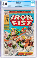 Bronze Age (1970-1979):Superhero, Iron Fist #14 35 Cent Price Variant (Marvel, 1977) CGC FN 6.0 Off-white pages....