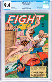 Fight Comics #51 (Fiction House, 1947) CGC NM 9.4 White pages