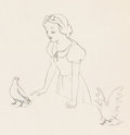 Animation Art:Production Drawing, Snow White and the Seven Dwarfs Animation Drawing (WaltDisney, 1937). ...