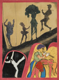 Fine Art - Work on Paper:Print, Ronald Brooks Kitaj (1932-2007). Performing Arts Center, 1982. Silkscreen in colors on paper. 29-1/2 x 22-1/8 inches (74...