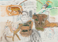 Larry Rivers (1923-2002) Bronx Zoo, from New York, New York, 1983 Lithograph in colors on