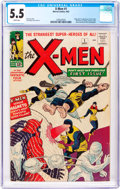 Silver Age (1956-1969):Superhero, X-Men #1 (Marvel, 1963) CGC FN- 5.5 White pages....