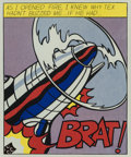 Fine Art - Work on Paper:Print, After Roy Lichtenstein . As I Opened Fire, triptych, 1966. Offset lithographs in colors on smooth wove paper, with full ...