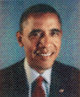 Chuck Close (b. 1940) Obama , 2012 Archival watercolor pigment print on Hahnemuhle paper 19-3/4 x 23-3/4 inches (50.2