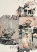 Prints & Multiples, Robert Rauschenberg (1925-2008). L.A. Uncovered #8, 1998. Screenprint in colors along lower edge. 30-3/4 x 22-1/4 inches...