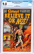 Golden Age (1938-1955):Non-Fiction, Ripley's Believe It or Not! #1 (Harvey, 1953) CGC VF/NM 9.0 Creamto off-white pages....