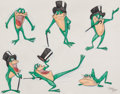 "Animation Art:Production Drawing, Virgil Ross - Michigan J. Frog ""Model Sheet"" Drawing Original Art(Warner Brothers, c. 1990s).. ..."