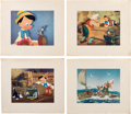Animation Art:Limited Edition Cel, Pinocchio Dye Transfer Prints with Magazines and Clipping Group (Walt Disney, c. 1940s-50s)....