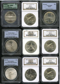 Modern Issues: , 1984-D S$1 Olympic Silver Dollar MS67 PCGS; (3) 1987-P ConstitutionSilver Dollar MS69 NGC; 1988-D Olympics Silver Dollar MS6... (9Coins)