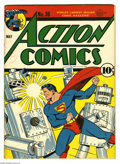 Action Comics #36 (DC, 1941) Condition: Apparent FN+. Classic robot cover by Fred Ray. Bernard Baily, George Papp, Josep...