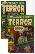 Golden Age (1938-1955):Horror, Adventures Into Terror #6 and 24 Group (Atlas, 1951-53) Condition:VG-. This lot consists of Adventures Into Terror #6 a... (2 ComicBooks)