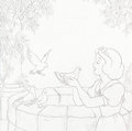 Animation Art:Concept Art, Snow White and the Seven Dwarfs CD Cover Preliminary Art (Walt Disney, 2000).... (Total: 3 Items)