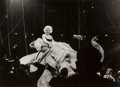 Photographs, Rae Russel (American, b. 1925). Marilyn Monroe on a Pink Elephant, Opening Night Circus, NYC, 1955. Gelatin silver. 9-3/...