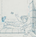 Animation Art:Concept Art, Hunchback of Notre Dame Cover Design Preliminary Drawing(Walt Disney, c. 1990s).... (Total: 4 Items)