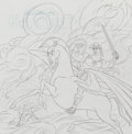 Animation Art:Concept Art, Hercules Concept/Layout Preliminary Art Group of 2 (WaltDisney, c. 1990s).... (Total: 3 Items)