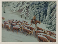 Morton Künstler (b. 1931) Early Snow, 1977 Lithograph in colors on paper 19-1/2 x 26 inches (49.5