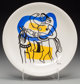 After Fernand Léger Untitled (Figure with horse), n.d. Ceramic plate in colors 9-1/2 inch (24.1 cm) diameter
