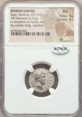 Ancients:Roman Imperial, Ancients: Septimius Severus (AD 193-211). AR denarius (3.31 gm). NGC AU 4/5 - 4/5....