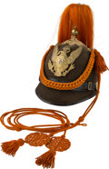 Military & Patriotic:Indian Wars, Model 1887 Signal Corps Dress Helmet with 1881-Pattern Side Buttons and Shield....