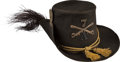 "Military & Patriotic:Indian Wars, Model 1858 Dress Hat, the ""Hardee Hat."" ..."