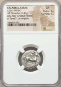 Ancients:Greek, Ancients: CALABRIA. Tarentum. Ca. 281-240 BC. AR stater or didrachm(6.41 gm). NGC XF 3/5 - 4/5....