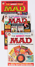 Magazines:Humor, Worst From MAD Group of 6 (EC, 1958-68) Condition: Average VF....(Total: 6 Comic Books)