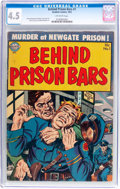 Golden Age (1938-1955):Crime, Behind Prison Bars #1 (Realistic Comics, 1952) CGC VG+ 4.5 Off-white pages....