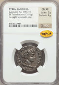 Ancients:Roman Provincial , Ancients: SYRIA. Laodicea ad Mare. Caracalla (AD 198-217). BItetradrachm (13.16 gm). NGC Choice XF 5/5 - 4/5....