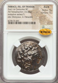 Ancients:Greek, Ancients: THRACIAN ISLANDS. Thasos. Ca. 148-90 BC. AR tetradrachm(16.88 gm). NGC AU ★ 5/5 - 5/5....