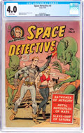 Golden Age (1938-1955):Science Fiction, Space Detective #2 (Avon, 1951) CGC VG 4.0 Off-white pages....