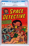 Golden Age (1938-1955):Science Fiction, Space Detective #3 (Avon, 1952) CGC FN- 5.5 Cream to off-white pages....