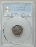 Bust Dimes: , 1837 10C AU58 PCGS Secure. PCGS Population: (24/58 and 0/0+). NGC Census: (14/80 and 0/1+). CDN: $550 Whsle. Bid for proble...
