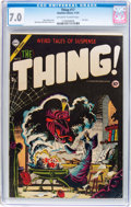 Golden Age (1938-1955):Horror, The Thing! #17 (Charlton, 1954) CGC FN/VF 7.0 Off-white to white pages....