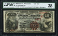 National Bank Notes:Wisconsin, Milwaukee, WI - $10 1882 Brown Back Fr. 485 The Wisconsin NB Ch. # (M)4817. ...