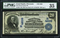 National Bank Notes:Wisconsin, Grand Rapids, WI - $20 1902 Date Back Fr. 646 The Wood County NB Ch. # (M)4639 PMG Choice Very Fine 35.. ...