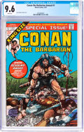 Bronze Age (1970-1979):Miscellaneous, Conan the Barbarian Annual #1 (Marvel, 1973) CGC NM+ 9.6 Whitepages....
