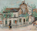 Paintings, Maurice Utrillo (French, 1883-1955). Cabaret du Lapin Agile. Oil on canvas. 18-1/8 x 21-3/4 inches (46.0 x 55.2 cm). Sig...
