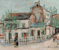 Maurice Utrillo (French, 1883-1955) Cabaret du Lapin Agile Oil on canvas 18-1/8 x 21-3/4 inches (